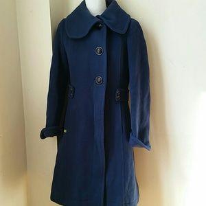 Soia & Kyo blue wool coat size M